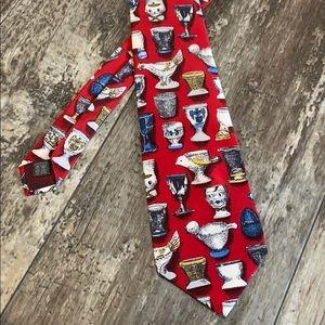 Mens Fornasetti silk tie, made in Italy